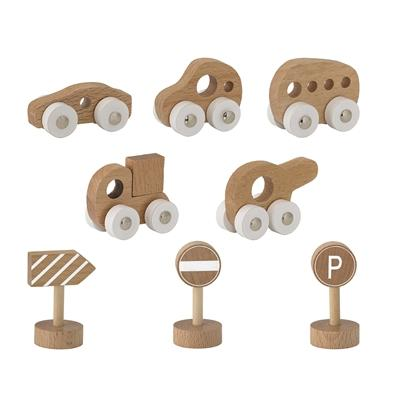 Bloomingville -Nature Toy Car Kit, Wooden Toys, Bloomingville Mini, nursery, kids, babies, presents, gifts - Home & Me