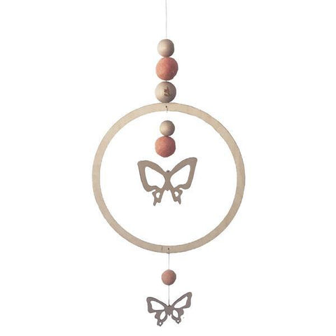 Loullou Butterfly Wall Hanging & Mobile