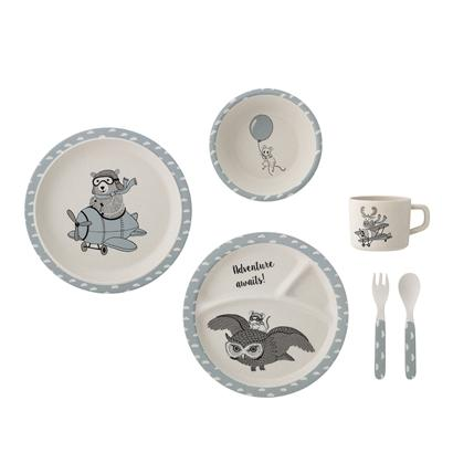 Bloomingville Blue Dinnerware Set, Dining, Bloomingville Mini, nursery, kids, babies, presents, gifts - Home & Me
