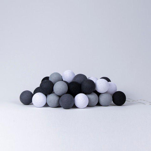 Cotton Ball Lights Monochrome Cotton Ball Lights, Lighting, Cotton Ball Lights, nursery, kids, babies, presents, gifts - Home & Me