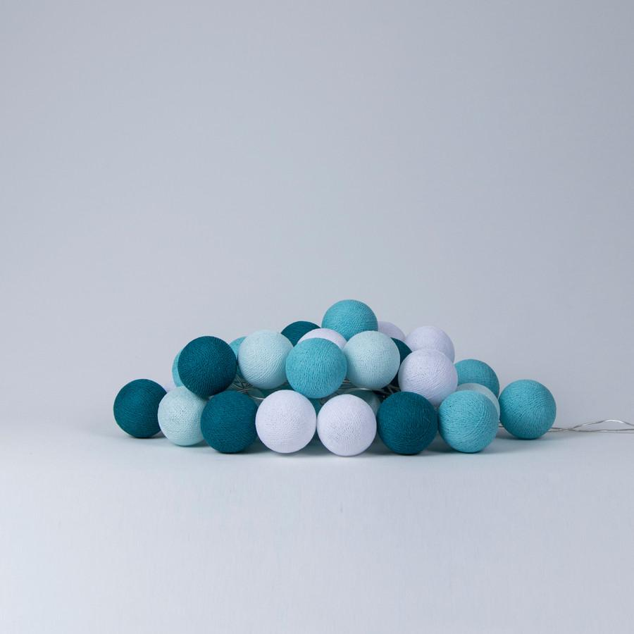 Cotton Ball Lights Aqua Ball Lights, Lighting, Cotton Ball Lights, nursery, kids, babies, presents, gifts - Home & Me