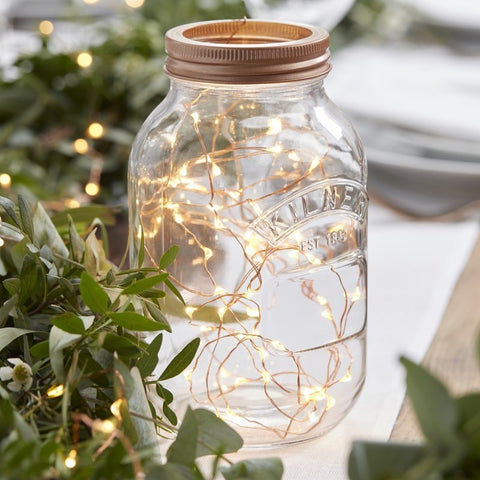 Ginger Ray - Rose Gold LED String Table Lights - Beautiful Botanics, Party Decor, Ginger Ray, nursery, kids, babies, presents, gifts - Home & Me
