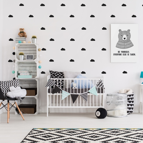 PÖM le Bonhomme Black Cloud Wall Stickers, Wall Decor, PÖM le Bonhomme, nursery, kids, babies, presents, gifts - Home & Me