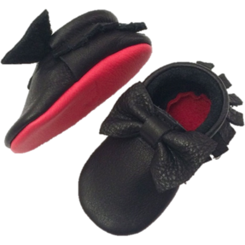 Black Loubies Moccasin Little Lambo, Shoes, Little Lambo, nursery, kids, babies, presents, gifts - Home & Me