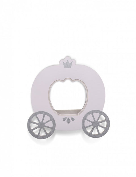That's Mine Pink Cinderella Carriage Wall Shelf