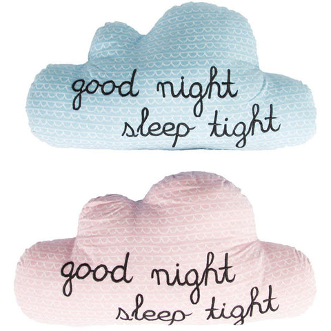 Sass & Belle Night Night Cloud Cushions, Soft Furnishing, Sass & Belle, nursery, kids, babies, presents, gifts - Home & Me