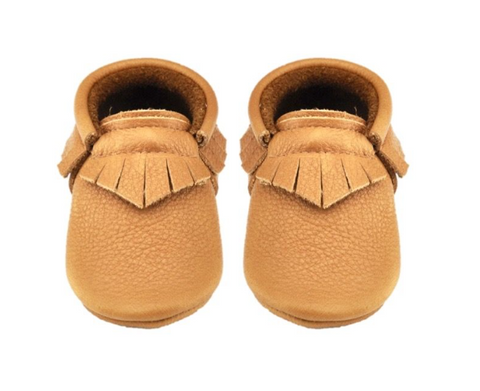 Tan Fringe Moccasin Little Lambo, Shoes, Little Lambo, nursery, kids, babies, presents, gifts - Home & Me