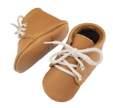 Tan Lace-up Moccasin Little Lambo, Shoes, Little Lambo, nursery, kids, babies, presents, gifts - Home & Me