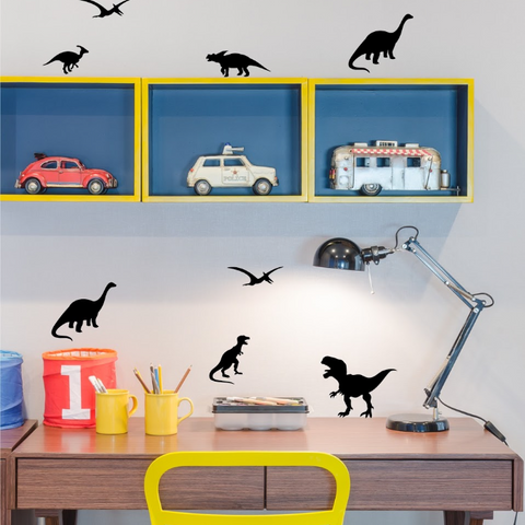 PÖM le Bonhomme Black Dinosaur Wall Stickers, Wall Decor, PÖM le Bonhomme, nursery, kids, babies, presents, gifts - Home & Me