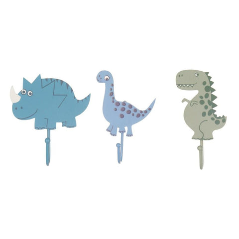 Sass & Belle Dinosaur Wall Hooks (3 Pack), Furnishing, Sass & Belle, nursery, kids, babies, presents, gifts - Home & Me