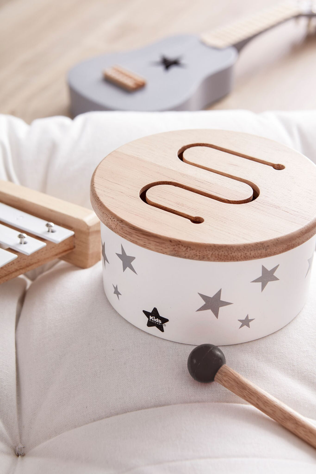 Kids Concept - Drum mini white, Wooden Toys, Kids Concept, nursery, kids, babies, presents, gifts - Home & Me