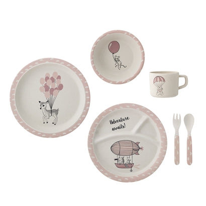 Bloomingville Rose Dinnerware Set, , Bloomingville Mini, nursery, kids, babies, presents, gifts - Home & Me