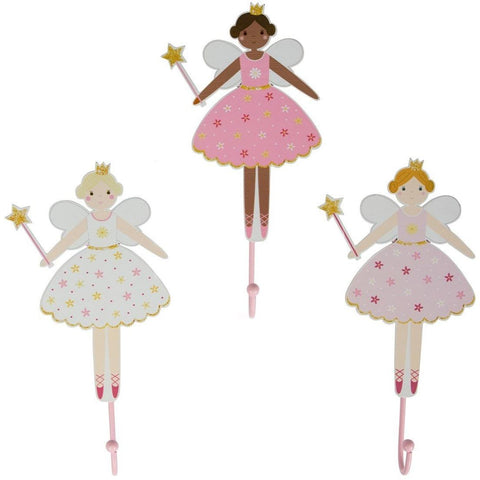 Sass & Belle Fairy Wall Hooks, Furnishing, Sass & Belle, nursery, kids, babies, presents, gifts - Home & Me