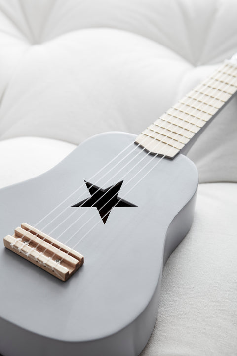 Kids Concept - Grey Guitar, Wooden Toys, Kids Concept, nursery, kids, babies, presents, gifts - Home & Me