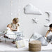 Cam Cam Grey Star Moon & Cloud Wall Decor, Wall Decor, Cam Cam Copenhagen, nursery, kids, babies, presents, gifts - Home & Me
