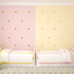 PÖM le Bonhomme Gold and Pink Heart Wall Stickers, Wall Stickers, PÖM le Bonhomme, nursery, kids, babies, presents, gifts - Home & Me