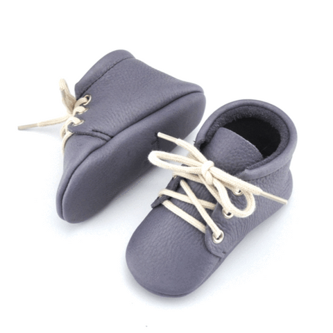 Little Lambo Blue-Grey Lace-up Moccasin Little Lambo, Shoes, Little Lambo, nursery, kids, babies, presents, gifts - Home & Me