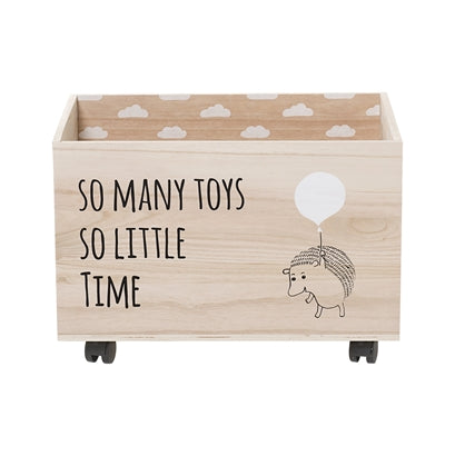 Bloomingville Hedgehog Storage Box on Wheels, , Bloomingville Mini, nursery, kids, babies, presents, gifts - Home & Me