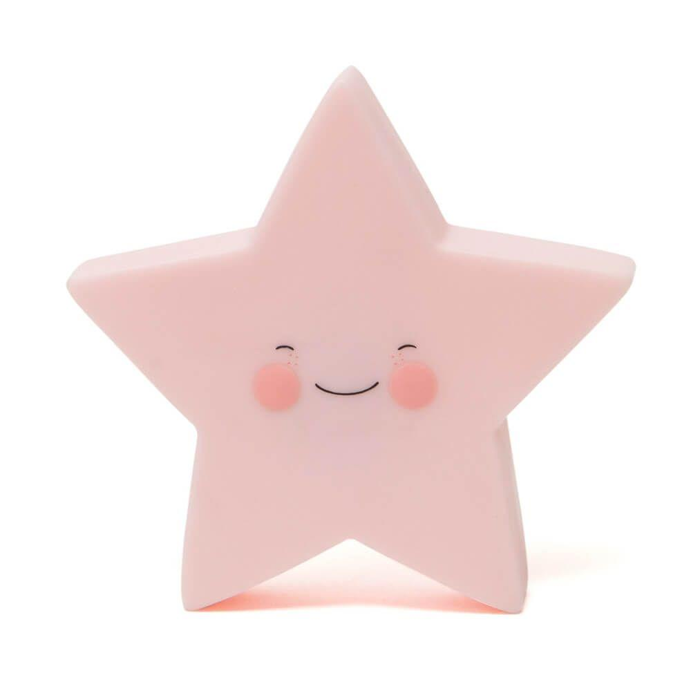 Pink Star Night Light Lamp, Lighting, Home & Me, nursery, kids, babies, presents, gifts - Home & Me