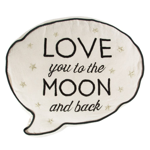 Sass & Belle Love You To The Moon Cushion, Soft Furnishing, Sass & Belle, nursery, kids, babies, presents, gifts - Home & Me