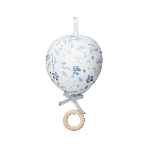 Cam Cam Pressed Leaves Blue Balloon Musical Cot Mobile, Furnishing, Cam Cam Copenhagen, nursery, kids, babies, presents, gifts - Home & Me