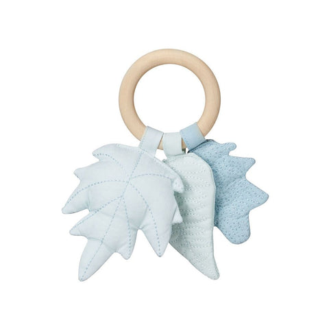 Cam Cam Leaves Rattle Blue, Playtime, Cam Cam Copenhagen, nursery, kids, babies, presents, gifts - Home & Me
