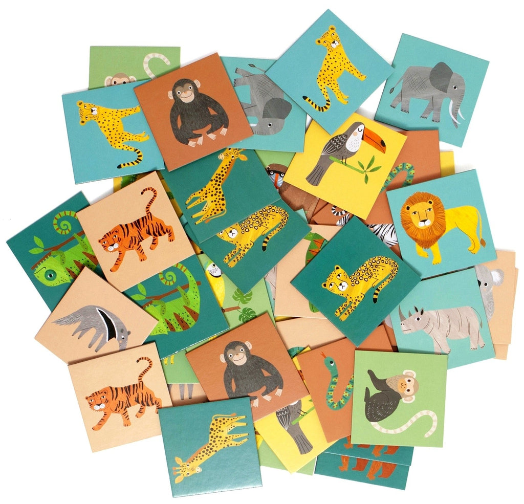 Petit Monkey Memory game jungle animals, Playtime, Petit Monkey, nursery, kids, babies, presents, gifts - Home & Me