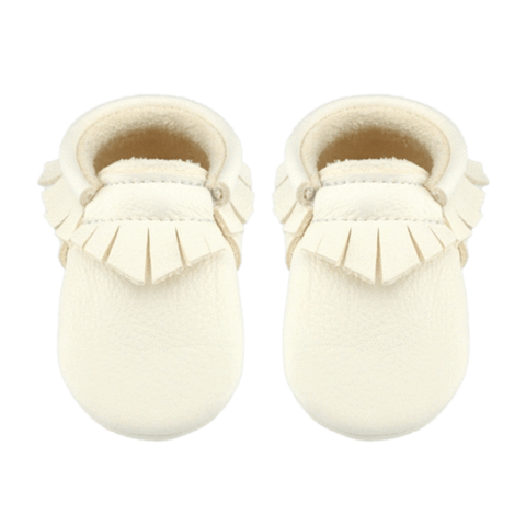White Fringe Moccasin Little Lambo, Shoes, Little Lambo, nursery, kids, babies, presents, gifts - Home & Me
