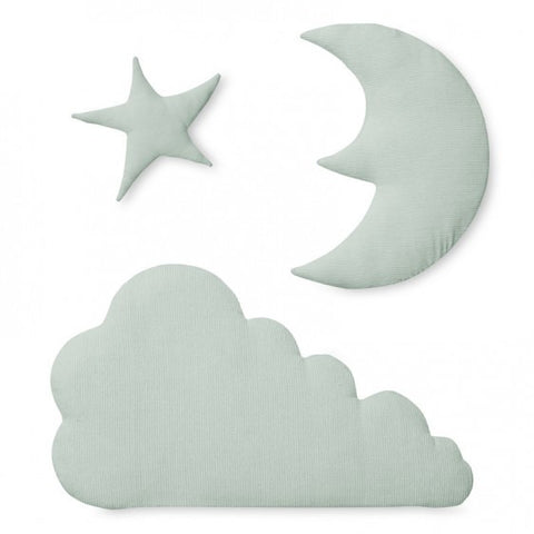 Cam Cam Mint Star Moon & Cloud Wall Decoration, Wall Decor, Cam Cam Copenhagen, nursery, kids, babies, presents, gifts - Home & Me