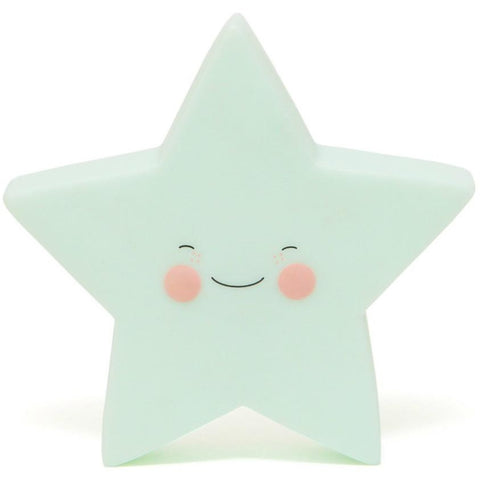 Green Star Night Light Lamp, Lighting, Home & Me, nursery, kids, babies, presents, gifts - Home & Me