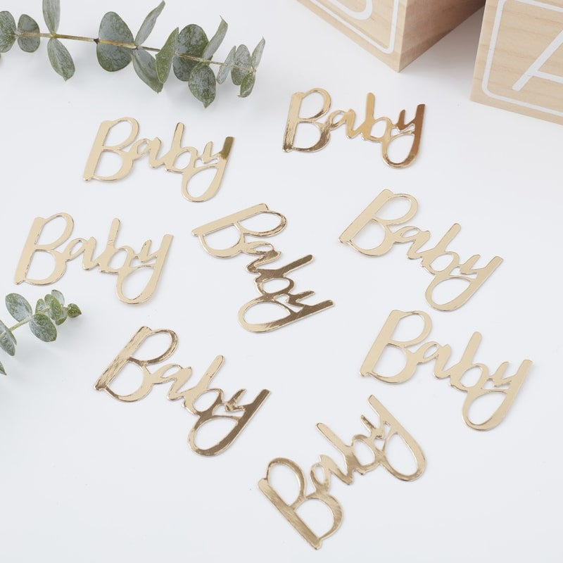 Ginger Ray - Gold Foiled Baby Confetti, Party Decor, Ginger Ray, nursery, kids, babies, presents, gifts - Home & Me