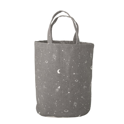 Bloomingville Outer Space Grey Storage Bag, , Bloomingville Mini, nursery, kids, babies, presents, gifts - Home & Me