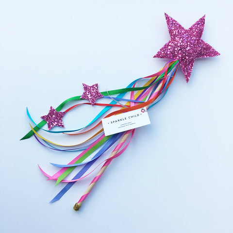 Sparkle Child - Pink Magic Wand, Dress Up, Sparkle Child, nursery, kids, babies, presents, gifts - Home & Me