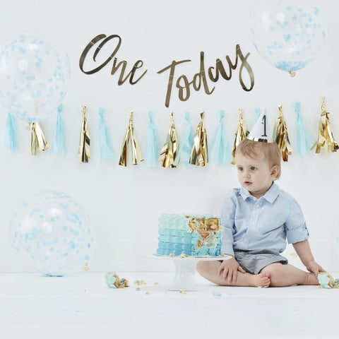 Ginger Ray - 	Blue Cake Smash Kit, Party Decor, Ginger Ray, nursery, kids, babies, presents, gifts - Home & Me