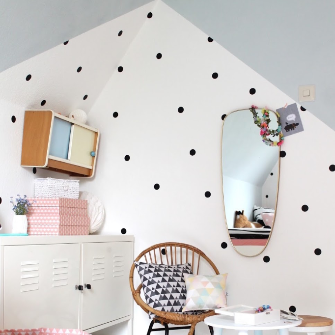 PÖM le Bonhomme Black Polka Dot Wall Stickers, Wall Decor, PÖM le Bonhomme, nursery, kids, babies, presents, gifts - Home & Me