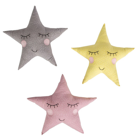 Pastel Star Trio Cushions, Soft Furnishing, Home & Me, nursery, kids, babies, presents, gifts - Home & Me