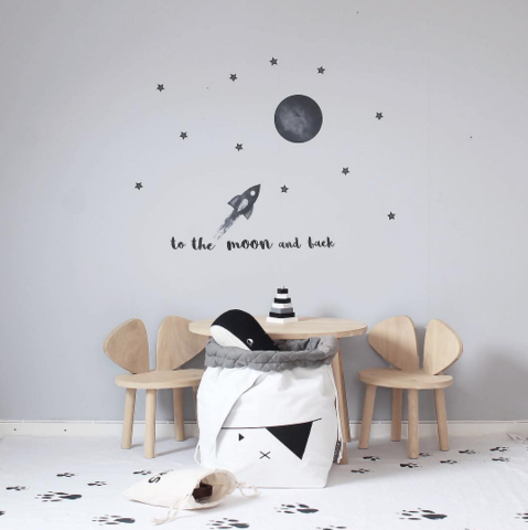 Stickstay Black Moon Wall Stickers, Wall Decor, Stickstay, nursery, kids, babies, presents, gifts - Home & Me