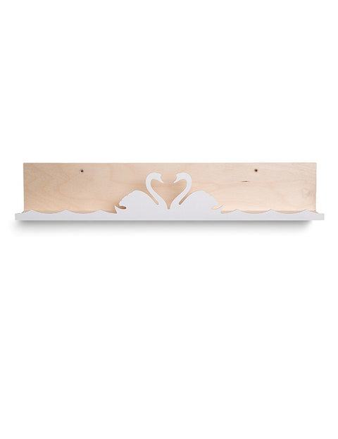 That's Mine White Swan Lake Shelf, Furnishing, That's Mine, nursery, kids, babies, presents, gifts - Home & Me