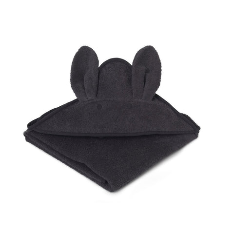 Liewood Dark Grey Rabbit Hooded Towel, Pamper and Care, Liewood, nursery, kids, babies, presents, gifts - Home & Me