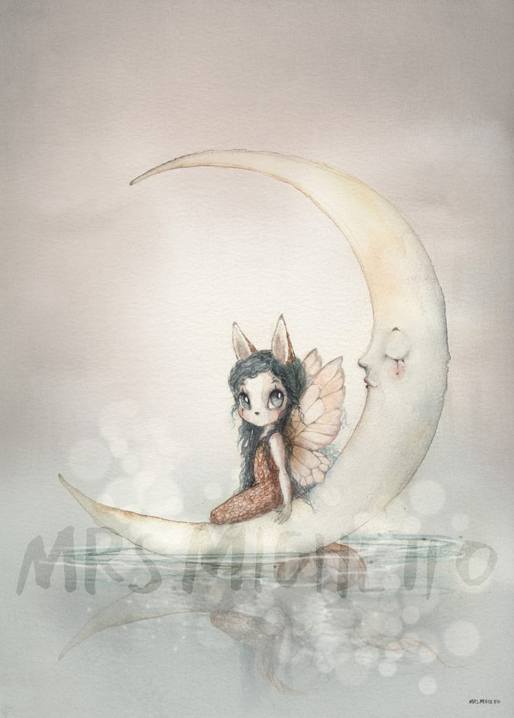 Mrs Mighetto The Lake Stories 'Miss Ines', Wall Art, Mrs Mighetto, nursery, kids, babies, presents, gifts - Home & Me