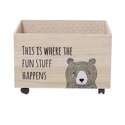Bloomingville Bear Storage Box on Wheels, Storage, Bloomingville Mini, nursery, kids, babies, presents, gifts - Home & Me