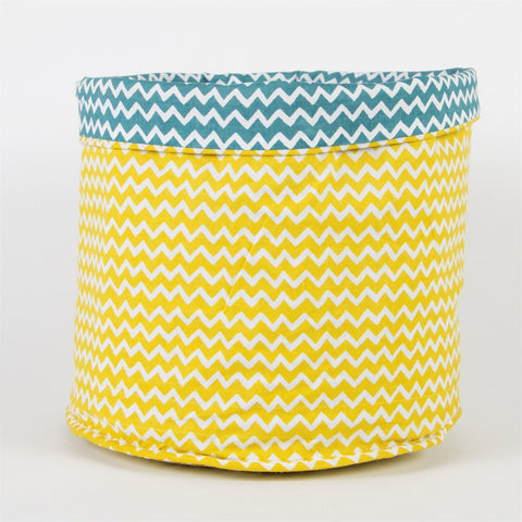Sass & Belle Yellow & Blue Chevron Storage Basket, Storage, Sass & Belle, nursery, kids, babies, presents, gifts - Home & Me