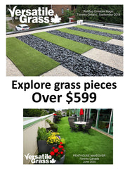 The Big Serious Sizes! Explore our physically larger grass rolls over $599.99... imagine consistent visual green texturing anywhere you can think of!