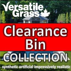 Clearance Bin: Many Hundreds of fun Unique Synthetic Artificial Grass Pieces to Discover... explore & find your perfect victory piece.  Dig deep