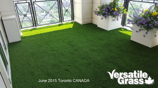balcony terrace deck rooftop Versatile synthetic artificial grass turf Toronto GTA Ontario