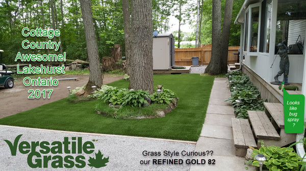 Backyard makeovers are our largest singular usage for Versatile Grass Versatile synthetic artificial grass turf Toronto GTA Ontario cottage