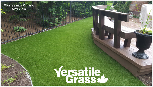 Backyard makeovers are our largest singular usage for Versatile Grass Versatile synthetic artificial grass turf Toronto GTA Ontario