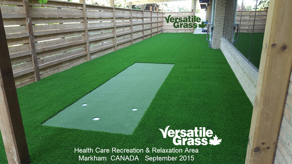 old folks home Versatile synthetic artificial grass turf Toronto GTA Ontario