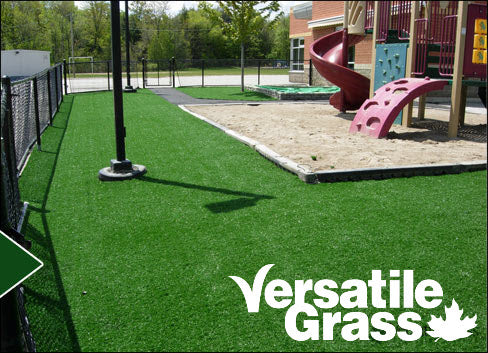 childcare playgrounds Versatile synthetic artificial grass turf Toronto GTA Ontario