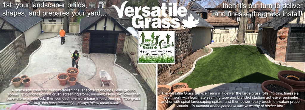 Versatile Grass artificial synthetic before after guidance